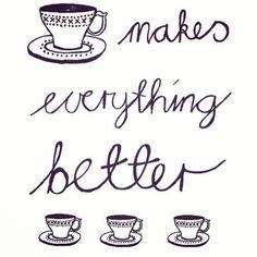 Thee, koffie wat het ook is... Het is even in het moment zijn dat alles echt beter maakt.