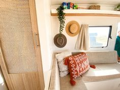 Check out our step by step guide into how we renovated our vintage Viscount Royal caravan into our own little beach house on wheels. Caravan Living, Caravan Home, Caravan Decor, Retro Caravan, Camper Caravan, Caravan Interiors, Diy Caravan, Caravan Ideas, Rv Campers