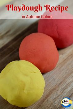 Kidz Activities shares its playdough recipe in autumn colors