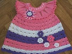 Learn how to make this beautiful dress crochet pattern for beginners  This is a free crochet patterns dress which I made for my dau...