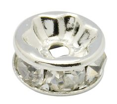 SOLD! 9PA 50 Grade AAA Rhinestone Spacers SP Clear. Starting at $5 on Tophatter.com!  tophatter.com/auctions/38425