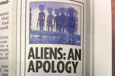 Jornal The Sun publica pedido de desculpas aos alienígenas – veja isso :-) http://www.bluebus.com.br/correcao-no-jornal-the-sun-pede-desculpas-aos-alienigenas-veja-isso/