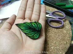 Unknown artist- Quilled leaves 1 (Searched by Châu Khang)
