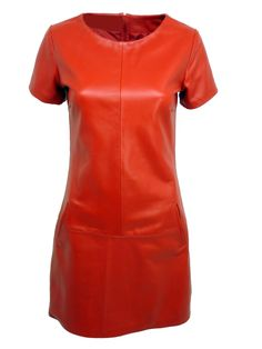 Robe cuir rouge  #leather #dress