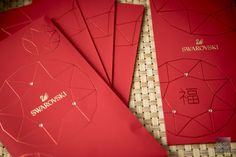 Swarovski ang bao with a blink Ang Bao Red Packets Singapore 2017 Envelope Design, Red Envelope, Packaging Design, Branding Design, Chinese New Year Design, Eid Cards, Red Packet, New Year Card, Red Aesthetic