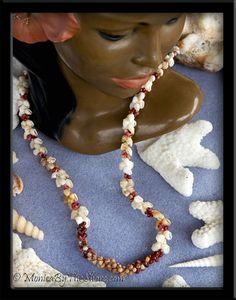 Lokelani & Poepoe Style Kahelelani Shell & Momi Shells Lei Necklace