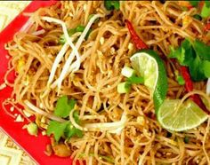 Chicken Pad Thai: Made this tonight very yummy.  Remember to add extra fish sauce, chilli oil and lime/lemon squeezed over at the end.