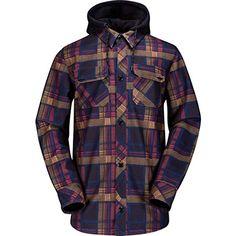 83a55b01065b Amazon.com  Volcom Hooded Flannel Shirt - Long-Sleeve - Men s Teak, XS   Sports   Outdoors