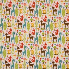 animal flannel fabric deer squirrel Riley Blake USA 2 - already made a quilt using this