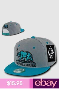 California Trucker Hat Baseball Hip Hop Brown Cap Bear République Drapeau Hommes Femmes