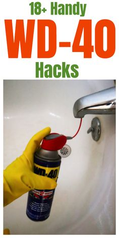 Tips, tricks, and hacks for using WD-40 around your home. #householdtips #householdhacks