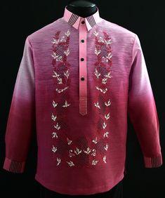 Burgundy Jusilyn Barong Tagalog - Barongs R us Barong Tagalog, Filipiniana Dress, Philippines Fashion, Line Shopping, Formal Looks, Burgundy, Mens Fashion, Suits, Stylish