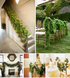 maybe you could do it in the church and stick flowers in to intertwine the rustic theme their as well