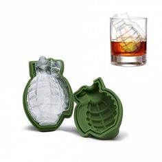 Grenade Shape 3D Ice Cube Mold Maker Silicone Trays Tool
