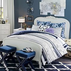 Lilac Bed, Twin, Vintage Simply White
