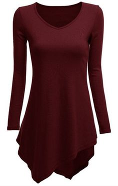Love the color and the hemline. With leggings and boots, perhaps, or a pencil skirt?