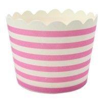 PINK Stripe PAPER BAKING CUPS