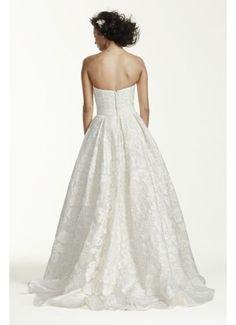 Oleg Cassini Laser Cut Organza Wedding Dress CWG631