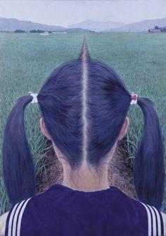 会田誠『あぜ道』 1991年undefined岩顔料、アクリル絵具、和紙、パネルundefined73×52cmundefined豊田市美術館蔵、愛知undefinedCourtesy: Mizuma Art Gallery