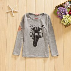 Motorcycle LST. Size 5-6yrs only. NOW JUST $7.50 Graphic Sweatshirt, T Shirt, Motorcycle, Sweatshirts, Boys, Long Sleeve, Sleeves, Sweaters, Clothes