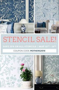 20% off Stencil Sale! Use the code MOTHERS2016 during checkout from now through 5/16 ow.ly/w5o73004Pj4