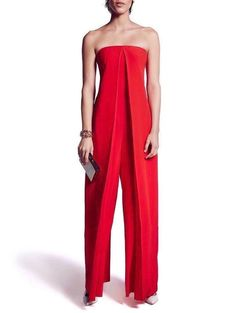 Red Jumpsuit Plus Size Jumpsuit Red Overall Women Jumpsuit Plus Size Jumpsuit, Red Jumpsuit, Strapless Jumpsuit, Palazzo Jumpsuit, Red Romper, Summer Jumpsuit, Jumpsuit Outfit, Look Fashion, Fashion Outfits