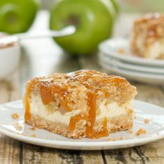 Caramel Apple Cheesecake Bars