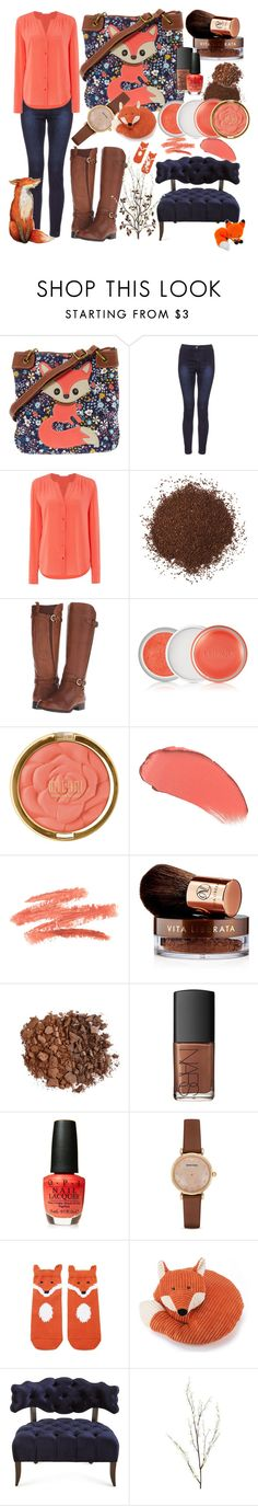 """Fox Love"" by rinnypooh2 ❤ liked on Polyvore featuring HUGO, Naturalizer, Clinique, Milani, Vita Liberata, Anastasia Beverly Hills, NARS Cosmetics, Emporio Armani, Forever 21 and Jellycat"