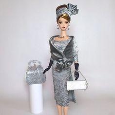 "OOAK Handmade Vintage Barbie Silkstone Fashion by Roxy ""Silver Lining "" 13 Pcs | eBay"