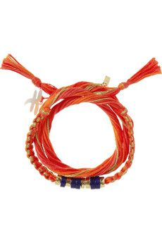 Aurélie Bidermann Takayama cotton and gold-dipped bracelet | NET-A-PORTER (for someone with a lot of Bright coloring.)