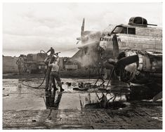 Historical WWII Photo B17 Flying Fortress on Fire by eeBeeVintage, $29.99