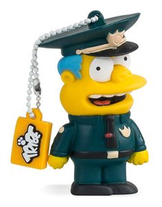 Chief Wiggum - Officially licensed USB flash drive, available in 8GB and 16GB USB 2.0 and 16GB USB 3.0