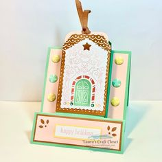 November Alternative Frame Card - Paper Pumpkin Gingerbread Gift Card Holder • Laura's Craft Closet Fun Fold Cards, Folded Cards, Paper Pumpkin, Happy Holidays, Gingerbread, Stampin Up, Decorative Boxes, November, Card Holder
