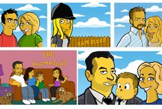 draw you as a SIMPSON Cartoon Character