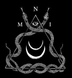Twin Serpents, moons, all-seeing eye, magic.