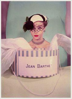 Joan Olsen for Jean Barthet hats, photo by Regina Relang 1953.