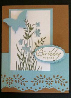 "Handmade Card Kit Set Of 4 ""Birthday Wishes"" Stampin Up"
