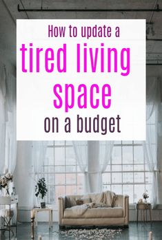 Update a Tired Living Space on a budget - a frugal and thrifty but fabulous makoever can be yours with these simple tips Cute Dorm Rooms, Cool Rooms, Diy On A Budget, Decorating On A Budget, Living Room Designs, Living Spaces, Bathroom Shelf Decor, Home Hacks, Home Look