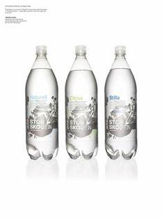 Storskogens Källa - mineral water. Designed by Happy Forsman & Bodenfors