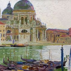 CARL MOLL, 1861-1945, Venedig mit Santa Maria della Salute Painter Artist, Kandinsky, Day For Night, Whistler, Santa Maria, High Quality Images, Art History, Watercolors, Austria