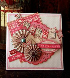 cards made by my mind's eye heirloom paper | this card was made with the my mind s eye