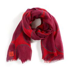 Wool Dot Scarf Red now featured on Fab.