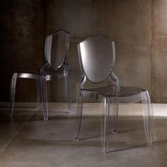 Canali Crystal Clear Molded Polycarbonate Side Chair (Set of 2) | Overstock.com