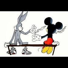 Resultado de imagen para mickey mouse y bugs bunny swag