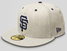 Heather Grey SF Giants 59Fifty Fitted Cap by NEW ERA x MLB
