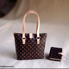 I found this on Etsy: Louis Vuitton Handbags (No.4)with diary for women Artisan handmade 1/12 Dollhou... $29.00 http://etsy.me/y4kt4b