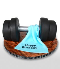 Dumbell Cake | Heathers Cakes - Designer Wedding and Birthday Cakes, Edinburgh