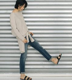 Love this photo, this outfit, and Eileen Fisher!