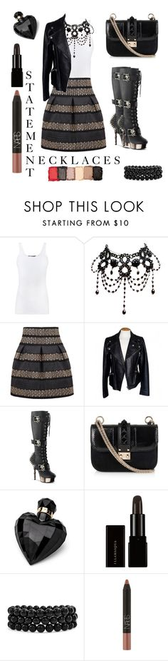 """""""Statement Necklaces"""" by tjoyreeves1 ❤ liked on Polyvore featuring Vince, Alexander McQueen, Valentino, Lipsy, Bling Jewelry, NARS Cosmetics and statementnecklaces"""