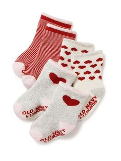Heart Patterned Sock 3-Pack Old Navy $4.10